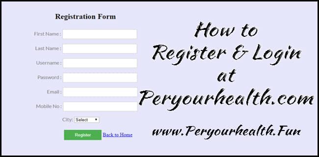 Register Login Peryourhealth