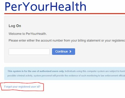 www.peryourhealth.com pay bill
