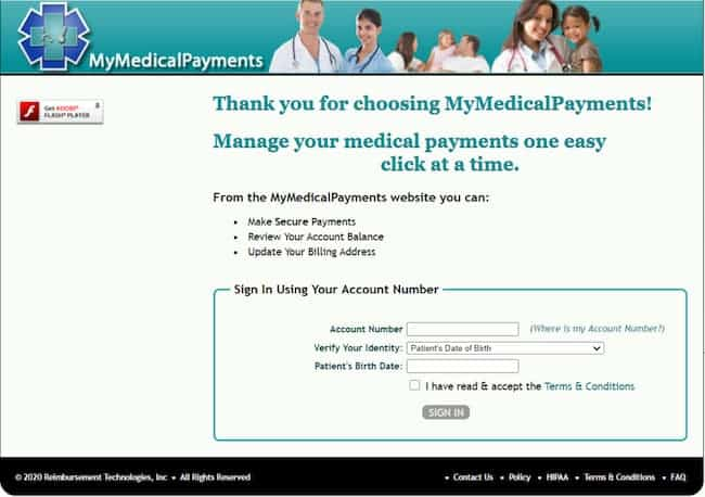 mymedicalpayments login